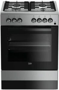 Cucina Beko FSE62110DX 4 Fuochi 60X60 - Inox - forno elettrico ventilato