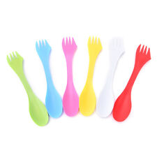 6X multifunction Camping Hiking Utensils Sporks Combo Travel Gadget Spoons Forks