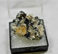 CALCITE on SPHALERITE from Elmwood Mine in Tennessee, USA - Thumbnail 23663