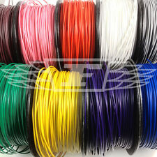 SOLID CORE HOOKUP WIRE 1/0.6mm 22AWG BREADBOARD JUMPERS 11 COLOURS PVC COPPER