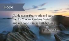 Pass Along Scripture Cards, Hope, Guide Me, Psalms 25:5, Pack 25