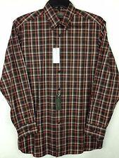 Cremieux Signature Collection Shirt NEW Men's Medium M Brown Cotton MSRP $89.50
