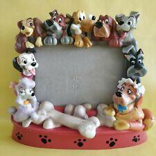 """Cadre résine 3D """"Disney Pets"""" vintage 90s chiens Dalmatien Belle Clochard"""