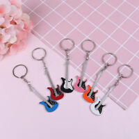 Creative metal electric guitar mini keychain key chain key ring gifts PJH