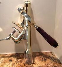 Johnson Rose 3374 Wine Bottle Opener New, Brass, Wooden Handle Bar/Restaurant