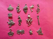 Tibetan Silver Mixed Little Mermaid/Under The Sea Mixed Charms 14 per pack