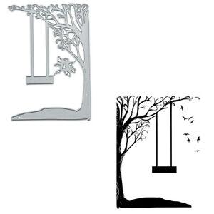 Tree Swing Wild Goose Metal Cutting Dies Scrapbooking Card stencil Die Template