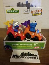 Super Grover & Cookie Monster Action Figure Toy Sesame Street Racers Vehicle NEW