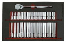 Trident 25 Piece 3/8in Drive Semi Deep & Extra Deep Socket Set 8 - 19mm T170