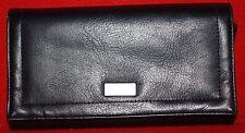 ESPRIT Worldwide Checkbook Wallet Black Color