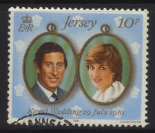 [JSC]1981 Jersey Royal Wedding 10p Prince Charles Lady Diana Royalty Stamp