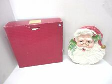 """Fitz & Floyd """"Old Fashioned Christmas"""" Santa, Canape, Cookie, Snack Plate"""