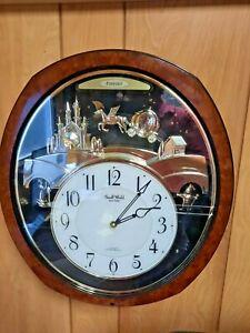 Freedel Small World Rhythm Princess Fantasy Wall Clock Plays 4 Songs Swarovski