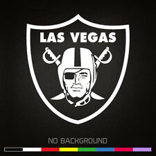 Las Vegas RAIDERS Shield NFL Football Vinyl Decal Sticker | Choose Color