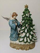 Christmas Tree and Angel Music Box Schmid Musical Collectibles B. Shackman 1988