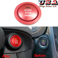 For Subaru Forester BRZ WRX STI Red Engine Start Stop Push Button Cap Cover Ring