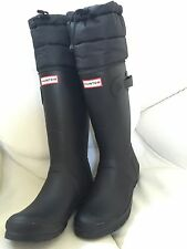 Authentic Hunter Quilted Insulated Rain/Snow Black Boots, Size 10