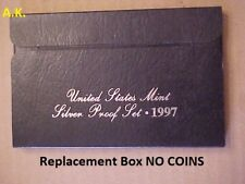 Replacement Box 1997 Black Silver Proof 1-Lens/Plastic Set Box & Coa NO COINS