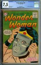WONDER WOMAN #80 CGC 7.5 OW PAGES // ORIGIN OF THE INVISIBLE PLANE