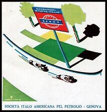 PUBBLICITA'1931 LAMPO BENZINA DISTRIBUTORE MOTO GARA CORSA TARGA INSEGNA W.ROSSI
