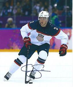 Cam FOWLER Signed USA 2014 Olympics Sochi 8x10 Photo DUCKS #2