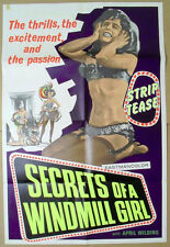 SECRETS of a WINDMILL GIRL ~ 1969 one sheet ADULT movie poster ~ EXCELLENT!