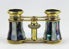 ANTIQUE FRENCH OPERA GLASSES WITH TWO TONE MOTHER OF PEARL # 34
