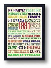 1991 Peel Festive 50 Indie Bands Art Poster (Slowdive Nirvana Field Mice Slint)