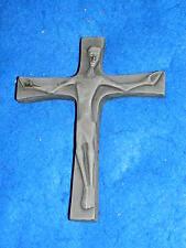 1975 CROIX à POSER crucifix en CERAMIQUE croce CROSS Kreuz CRUZ jesus christ JC