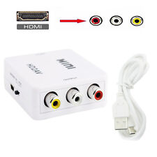 Full HD HDMI to RCA Audio Video AV CVBS Adapter Converter For No HDMI CRT Wht #6