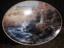 Limited Edition collector's plate Thomas Kinkade The Light of Peace lighthouse