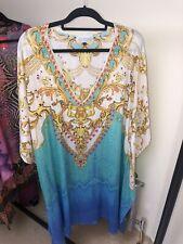 Embellished Silk Kaftan