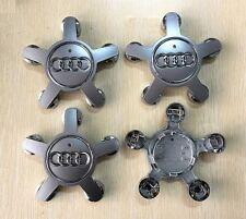 4X Wheel Center Caps For AUDI A4 A5 A6 A7 A8 Q5 R8 S4 S5 S6 S8 TT 4F0601165N NEW