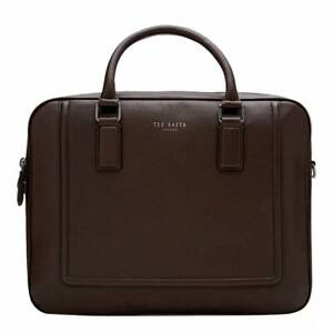 Ted Baker Leather briefcase messenger document bag  Ragna Chocolate - BNWT