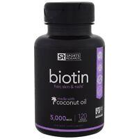 Sports Research  Biotin  5 000 mcg  120 Veggie Softgels