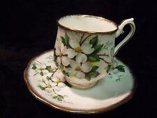 Royal Albert Bone China White Dogwood Teacup and Saucer ~ Mint