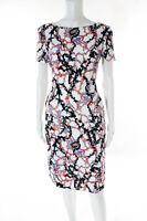 Mary Katrantzou Multi-Color Abstract Short Sleeve Dress Size 10 $2180 New 120102