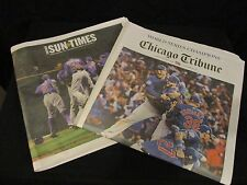 Chicago Tribune & Chicago Sun Times Chicago Cubs World Series Winners Combo Pak!