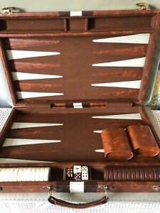 Vintage BOARD GAME Very large BACKGAMMON IN CARRY CASE