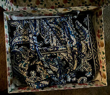 VERA BRADLEY ICONIC TOTE Deep Night Paisley NWT Exact Item!