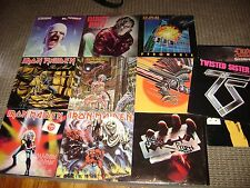 10-HEAVY METAL LP LOT-MAIDEN-PRIEST-TWISTED SISTER-QUIET RIOT-LEPPARD-ROCK-LPS