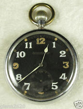 Vintage Mens Jaeger LeCoultre British Military Pocket Watch Swiss WWII Runs 1940