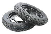 Paar Komplettrad Reifen 12 Zoll Simson SR50 SR80 SD50 Albatros schwarz montiert