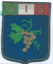 ASSOCIAZIONE ITALIANA SOMMELIERS DISTINTIVO STEMMA UFFICIALE IN STOFFA CM 7 X 9