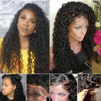 100% Brazilian Remy Human Hair Wig Deep Wave Curly Silk Base Full Lace Wig Women