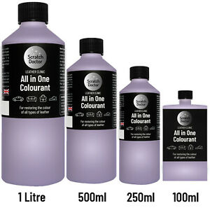 ALL IN ONE LILAC Leather Colourant. Repair & Recolour. Dye Stain Paint Colour