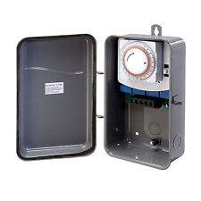 New Westek 24-Hour Outdoor Lighting Pool Spa Mechanical Box On/Off Timer Switch