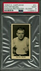 1938 F.C. CARTLEDGE GLOSSY #31 WALTER NEUSEL PSA 9 MINT POP 6 FAMOUS FIGHTERS