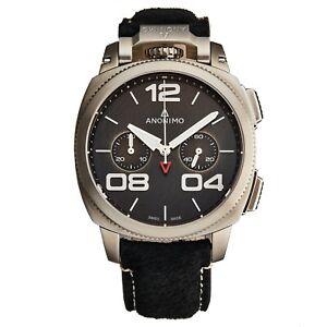 Anonimo Mens Militare Black Chronograph Swiss Automatic AM-1120.01.001.A01