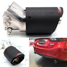100% Carbon Fiber Sport Exhaust Pipe Tip Adjustable Angle Car Muffler Cover Trim